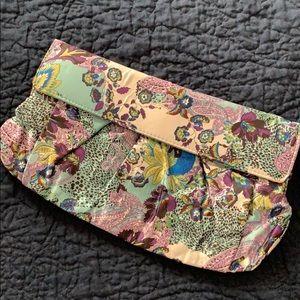 Aldo paisley printed satin-feel clutch